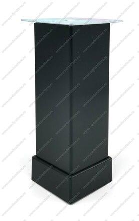 Опора регулируемая гладкая 200 мм матовый черный 118-012 1
