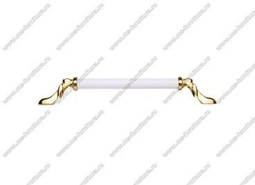 Ручка-скоба 192 мм золото/белый 834-192-V3/V6 2