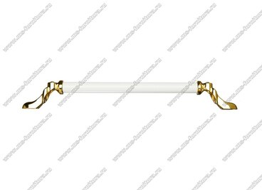Ручка-скоба 224 мм золото/белый 834-224-V3/V6 2
