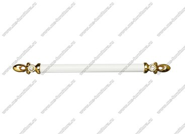 Ручка-скоба 224 мм золото/белый 834-224-V3/V6 3