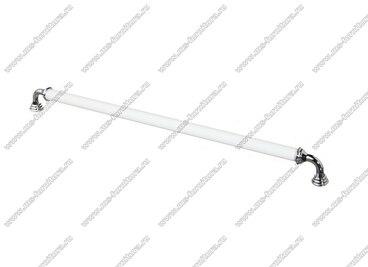 Ручка-скоба 320 мм хром/белый 833-320-V1/V6 1