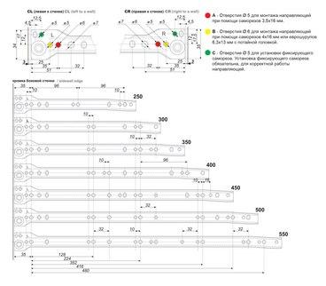 Роликовые направляющие (0,8) DS03W.1/450 3