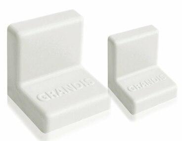 Заглушка для уголка Grandis пластиковый белый 25х25 мм 1