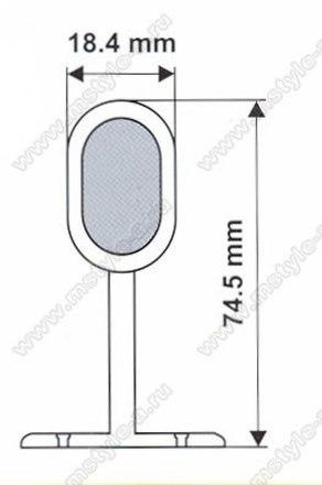 Штангодержатель глухой для овальной трубы №221 2