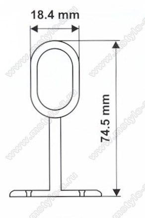 Штангодержатель промежуточный для овальной трубы №222 2