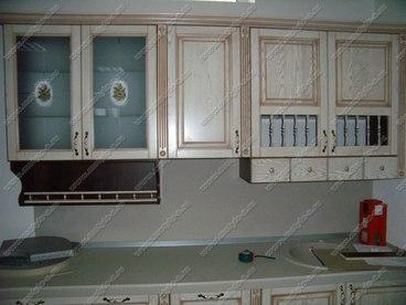 Фасад Классика из ясеня в цвете белый с коричневой патиной 2