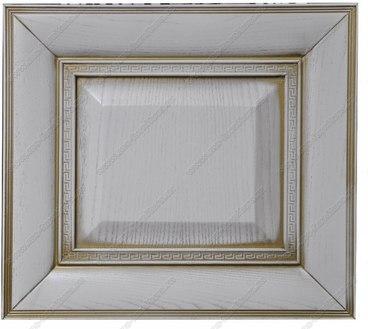 Фасад из ясеня Ника цвет белый с золотой патиной 2