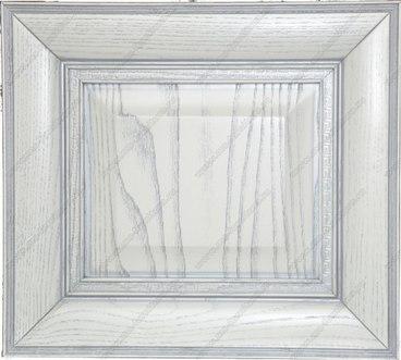 Фасад Ника из ясеня цвет белый с серебряной патиной 2