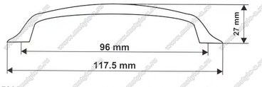 Ручка-скоба 96 мм 5009 (матовый хром) 2