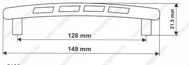 Ручка-скоба 128 мм 5126 3