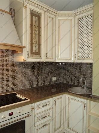 Кухня с фасадами из массива бука Ника KFN-01 3