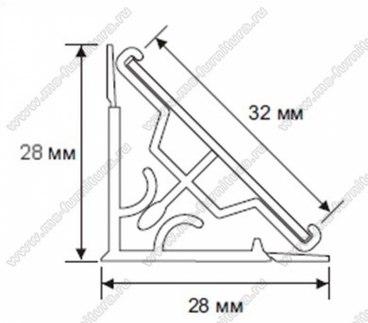 Плинтус кухонный пластиковый под вставку 3,05 м 2