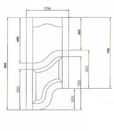 Фасад фигурный прямой №4 2