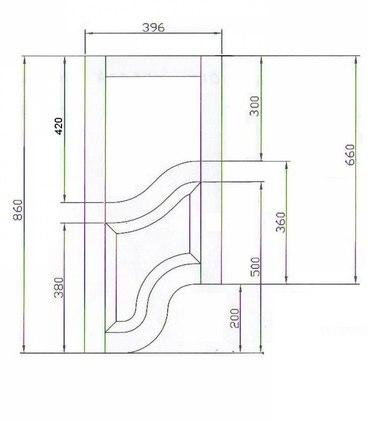Фасад фигурный прямой №4 3