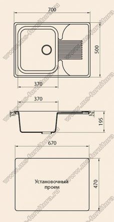 Кухонная мойка из камня G010 2