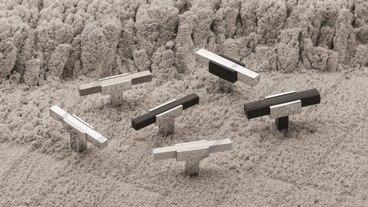 Ручка-кнопка хром+полированная сталь 67-CR+NB 2