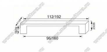 Ручка-скоба 96 мм античная бронза 273-96-AN 3