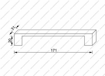 Ручка-скоба 96 мм античная бронза 283-96-AN 2