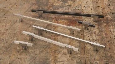 Ручка-скоба 160 мм хром+полированная сталь 778-160-CR+NB 2