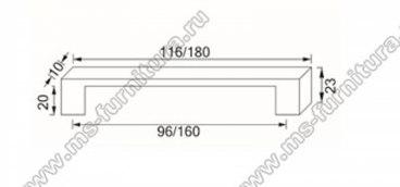 Ручка-скоба 160 мм хром 801-160-Thin-CR 2