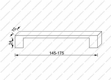 Ручка-скоба 128 мм хром 802-128-Thin-CR 2
