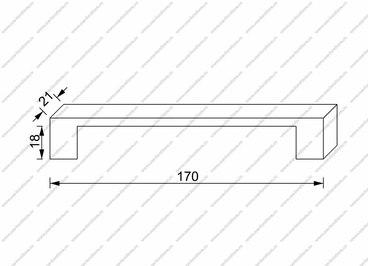 Ручка-скоба 160 мм полированный никель 1030-160-NB 2