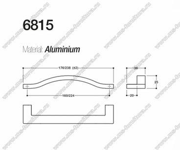 Ручка-скоба 160 мм хром SY6815 0160 CR 2