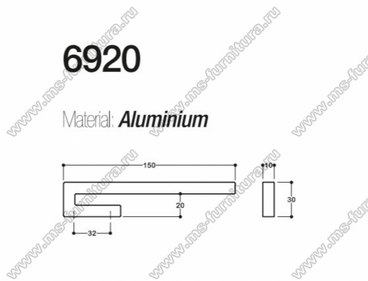 Ручка-скоба 32 мм хром SY6920 0032 CR 2