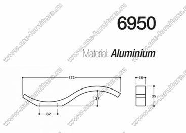 Ручка-скоба 32 мм хром SY6950 0032 CR 3