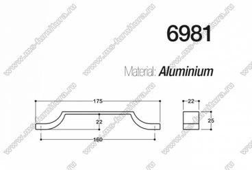 Ручка-скоба 160 мм хром SY6981 0160 CR 3