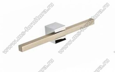 Ручка-кнопка 16 мм хром + полированный никель SY7349 0016 CR-NB 2