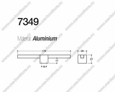Ручка-кнопка 16 мм хром + полированный никель SY7349 0016 CR-NB 3