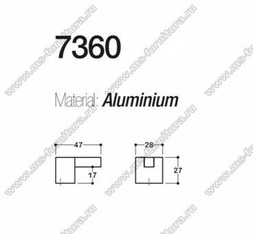 Ручка-кнопка хром + полированный никель SY7360 0008 CR-NB 3