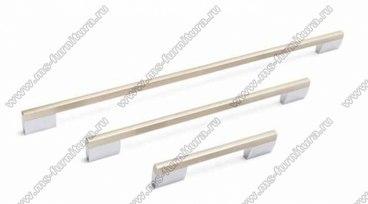 Ручка-скоба 160 мм хром + полированный никель SY8580 0160 CR-NB 2