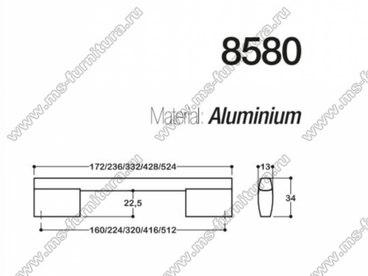 Ручка-скоба 160 мм хром + полированный никель SY8580 0160 CR-NB 3