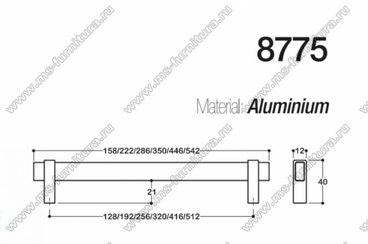 Ручка-скоба 128 мм хром + полированный никель SY8775 0128 CR-NB 3