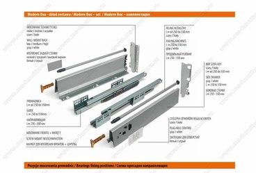 Ящик металлический низкий Modern box GTV PB-D-KPL400A 2