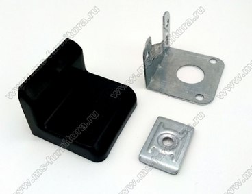 Уголок металлический + пластиковая заглушка Черный 1