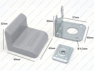 Уголок металлический + пластиковая заглушка Дуб 2