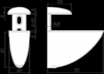 Полкодержатель Тукан средний хром P506CP.2 BOYARD 2