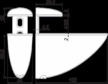 Полкодержатель Тукан большой матовый хром P511SC.2 BOYARD 2