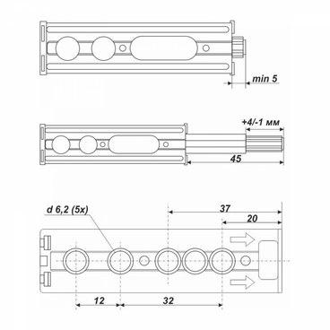 Магнитный толкатель Push-to-Open AMF13/SST Boyard 3