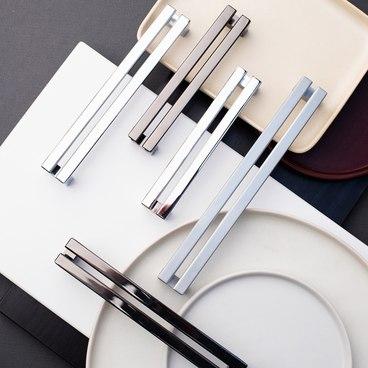 Ручка-скоба 192 мм черный хром S-2352-192 BN 2
