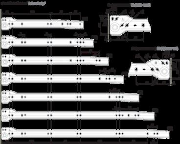 Метабокс 86х350мм белый MB08601W/350 2