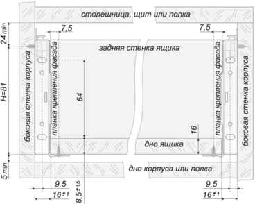 Метабокс 86х450мм белый MB08601W/450 4