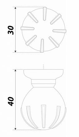 Ручка-кнопка матовый атласный никель TILDA RC308MBSN.4 4