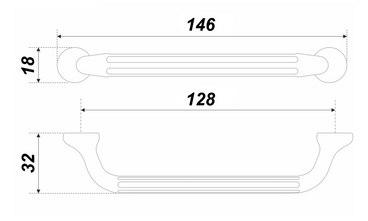 Ручка-скоба 128 мм матовый атласный никель STARK RS309MBSN.4/128 4