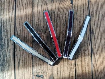 Ручка-скоба 160 мм хром+красный BTX-160-02/08 2