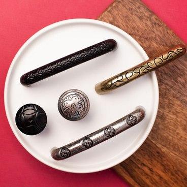 Ручка-кнопка матовый черный RK-103 BL 3