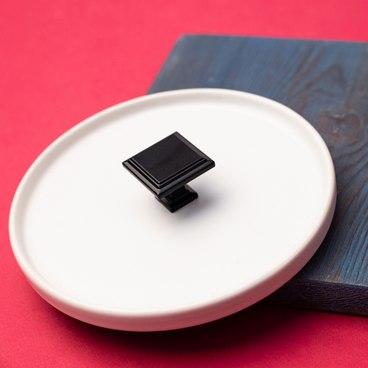 Ручка-кнопка матовый черный RK-105 BL 2